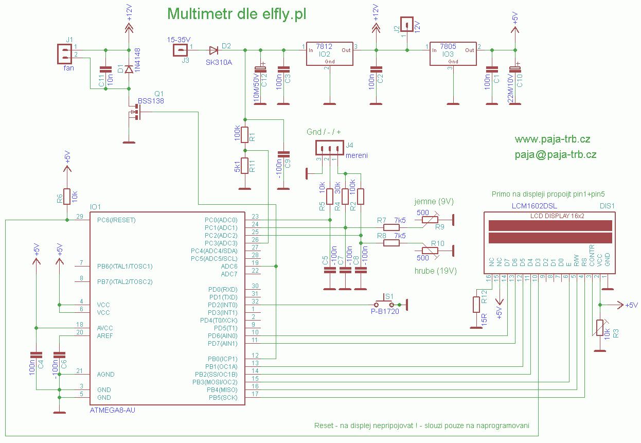 Paja Konstrukce Zdroj G400 7805 Schema Merak Elfly